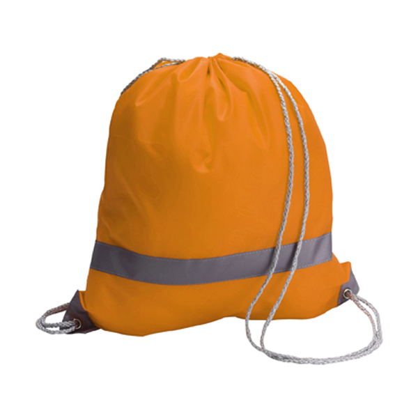 Drawstring backpack in orange