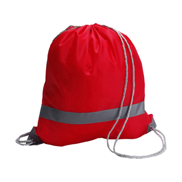 Drawstring backpack in red