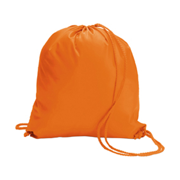 Drawstring backpack in orange
