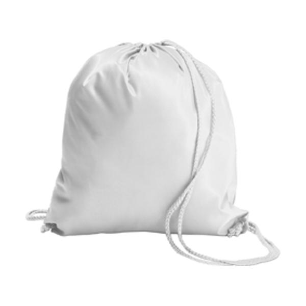 Drawstring backpack in white