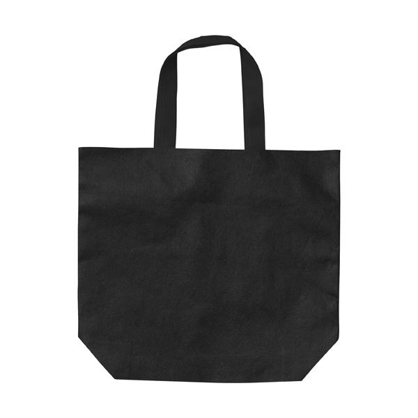 Shopping bag, non-woven  in black
