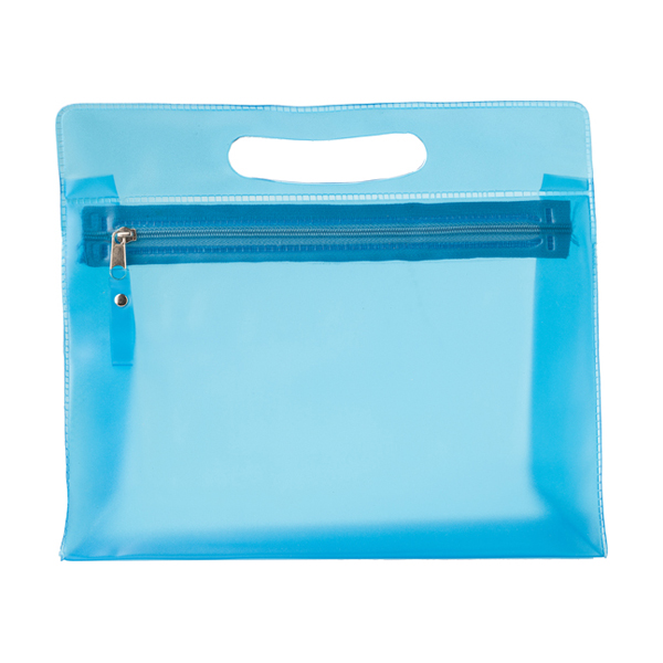 Frosted toilet bag. in light-blue