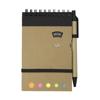 Wire bound notebook. in black