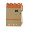 Wire bound notebook. in orange