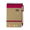 Wire bound notebook. in red