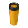 Stainless steel 450ml travel mug a plastic interior. in orange