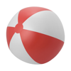 Large PVC  beach ball. in red-and-white