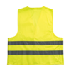 Promotional safety jacket for children. in yellow