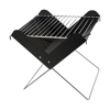 Foldable barbecue grill. in black