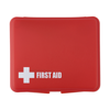 First aid kit in a plastic box, 10pc in red