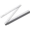 2m Folding ruler. in white