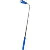 Telescopic aluminium flash light. in cobalt-blue