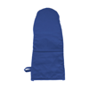 Cotton/neoprene oven glove. in blue
