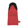 Cotton/neoprene oven glove. in red