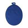 Neoprene oval shaped oven glove. in blue