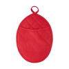 Neoprene oval shaped oven glove. in red