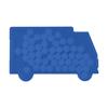Truck shaped mint card in cobalt-blue