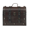 Small wooden chest. in brown