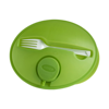 Oval shaped salad box. in light-green