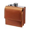 6oz Stainless steel hip flask in brown