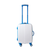 ABS trolley with 4 spinner wheels. in light-blue