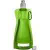 Foldable plastic water bottle in light-green