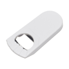 Bottle opener, plastic  in white