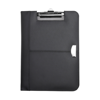 Bonded leather clipboard in black