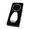 Key holder with bottle opener in silver