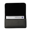Bonded leather card holder in black