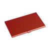 Aluminium card holder in red