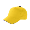 Cap with sandwich peak in yellow