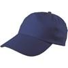 Cap, cotton twill in cobalt-blue