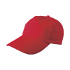 Cap, cotton twill in red