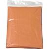 Foldable translucent poncho in orange