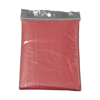 Foldable translucent poncho in red