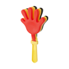 Plastic hand clapper in black-and-yellow-and-red