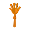 Plastic hand clapper in orange