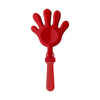 Plastic hand clapper in red
