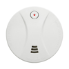 Smoke detector alarm in white