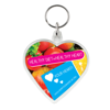 Shaped Range of Keyrings in heart