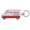 Shaped Range of Keyrings in van