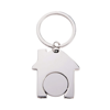 House Trolley Keyring in silver