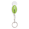 Shopper Trolley Coin Keyring in white