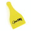 Plastic ice scraper with a sturdy handle and a thumb grip for control and ease of use.  An extremely useful and practical promotional gift for drivers.  With a great branding area, in yellow