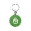 Bottle Lid Opener Plastic Bottle Opener Keyring in green
