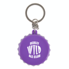 Bottle Lid Opener Plastic Bottle Opener Keyring in purple