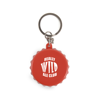 Bottle Lid Opener Plastic Bottle Opener Keyring in red