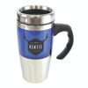 Rembrandt 450Ml Tall Double Walled Travel Mug in blue