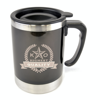 Matisse 400Ml Double Walled Cylindrical Travel Mug in black